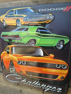 NEW Dodge Challenger 3D Metal Display SHAKER YELLOW TA Petty Mopar RT SE 70 71