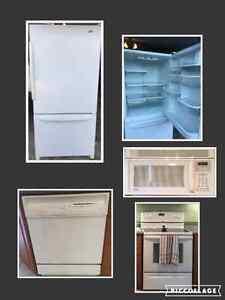 Fridge Stove Dishwasher microwave (over range)
