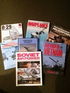 7 Aircraft hard cover books - gently used
