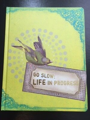 Go Slow: Life in Progress Bird Large Journal / Notebook design by PaPaYa! Art