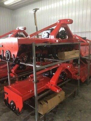 Extra Heavy Duty 3 Point 7 Ft. Rotary Tiller Tractor Tiller