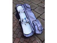 Salomon Snowboard 155 (David Benedek edition) with Bindings & Travel Case