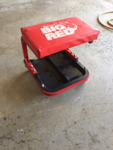 BIG RED Fixed Roller Seat or garage