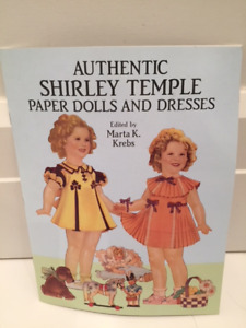 New Shirley Temple paper doll books