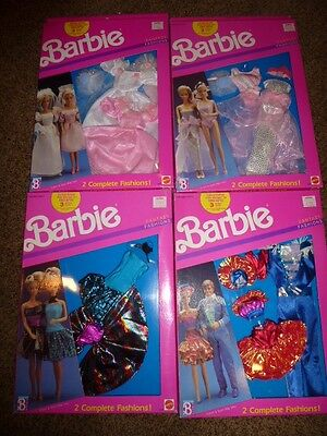 4-Vintage Barbie Fantasy Fashions Ken 1989 Set NRFB 8242 Dress Gown Wedding MOC