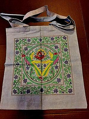 "Bird of Paradise tote bag 18""x18"" All Natural Cotton Tote/Yoga Bag"