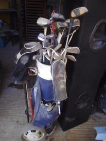 Golf Clubs, Trolley & Bag - in St Albans