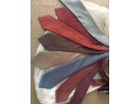Hermes 100% silk ties