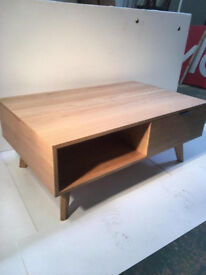 Contemporary Light Oak Coffee Table