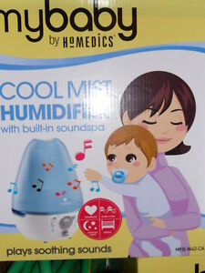 HoMedics MyBaby Ultrasonic Cool Mist Humidifier with SoundSpa, B