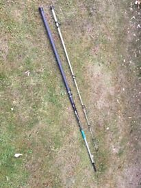 Daiwa Moonraker and Supercast beach rods 12 ft/3.66m - to be sold as a pair