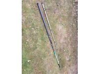 Beach casting rods Daiwa Moonraker and Supercast rods 12 ft/3.66m - to be sold as a pair