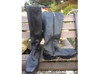 Ladies Knee length Leather Boots M&S size 7.5