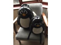 Trendy Kid travel buddies luggage set - Percy penguin