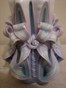 Large Decorative Carved Wax Candle Cathedral Twist, Cascading Kitchener / Waterloo Kitchener Area image 5