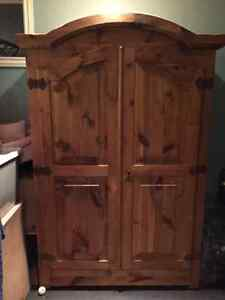 MOVING SALE.........RUSTIC PINE CABINET