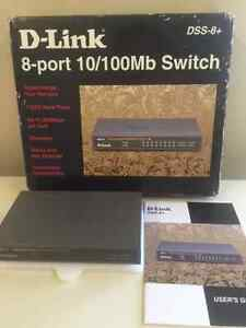 D-Link DSS-8+ 8-Port 10/100 Switch, Desktop Switch