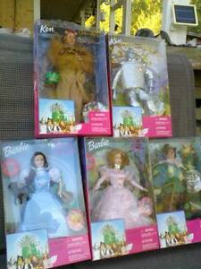 WIZARD OF OZ BARBIES BY MATTEL *SET OF 5* NEW IN BOX Prince George British Columbia image 1