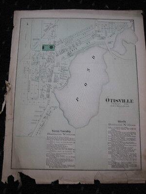 Antique ORIGINAL 1872 Beers Otisville Genesee County MI Michigan PLAT MAP