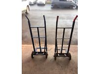 Pair of HEAVY DUTY SACK TRUCK INDUSTRIAL HAND TROLLEY
