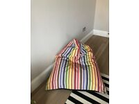 Colourful Missoni beanbag for sale