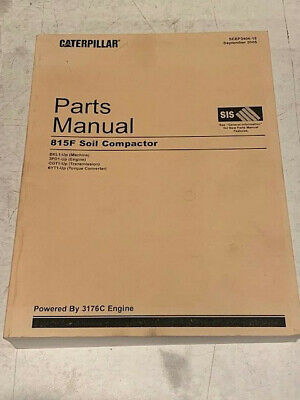 Caterpillar 815f Soil Compactor Parts Manual