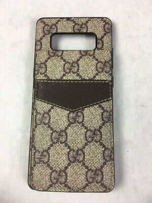 Authentic Gucci iPhone Phone Case Holder GG Supreme Beige Brown