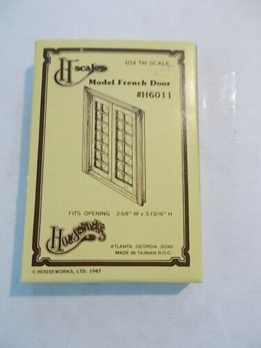 Dollhouse 1:24 Half Scale French Door Assembled NLIP
