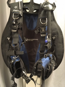 scuba diving bcd sherwood axis bcd back inflate
