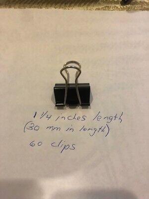 Office Supply File Organizer Binder Clips-30 Mm Length-60 Pcs