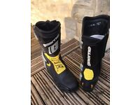Gaerne Motorcycle Boots. Size 8. Worn and signed by Chris Vermeulen, Australian Superbike Rider.