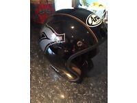 Once Worn, Arai Cafe Racer Freeway Helmet - Medium (57cm) Black/Gold/Metallic Grey!Take a Look!