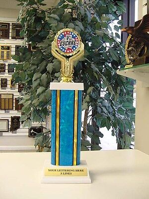 Euchre Cards Card Trophy Award Free Engraving