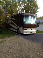 42 foot tag axle diesel quad slide motorhome