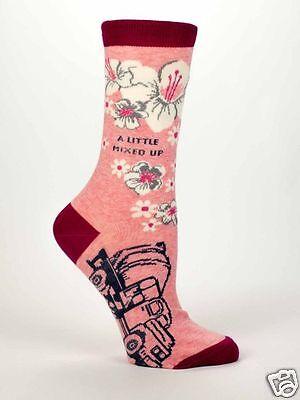 Blue Q A Little Mixed Up Womens Casual Sock  5 10