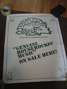 ALLIGATOR RECORDS BLUES 1991 PROMO POSTER NEW