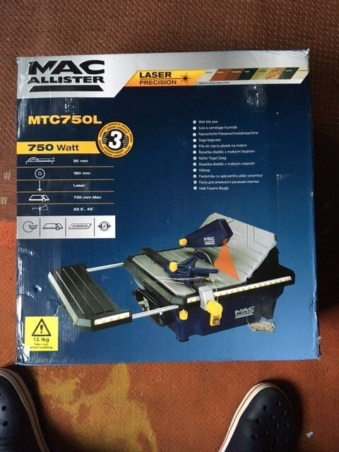 MAC ALLISTER CORDED 750W POWER TILE SAW MTC750L