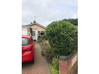2 Bed Detached Bungalow with garage and gardens