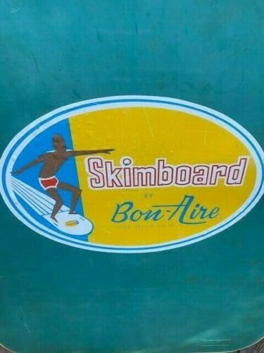 Vintage Bon - Aire Skimboard  1960s with fin 32 inch Long Beach CA