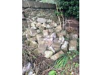 FREE: Old Sandstone Walling, various shapes and sizes- Buyer to collect Wirral