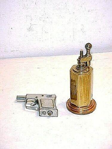 2 Scarce Cigarette lighters Japan Gun And Unusual Heavy Desk Lighter