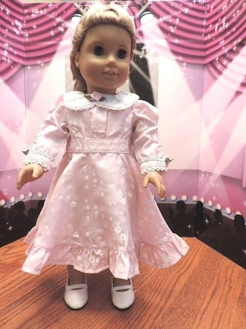 """Doll Clothes 18"""" Doll Victorian Dress Pink Fits American Girl Doll Nellie"""
