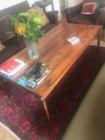 mahogny 60s sofa table broken leg for FREE