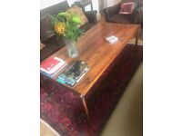 mahogny 60s sofa table broken leg for FREE