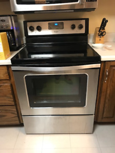 Whirlpool Stainless Steel, smooth top electric range