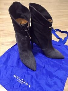 AQUAZURRA Tribeca suede lace-up boots [Authentic, Never worn]