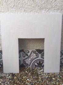 Marble effect Hearth and surround