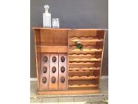 Quirky *WINE CELLAR* Rack Bottle Storage Wood & Veneer Solid Freestanding