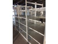 JOB LOT 100 bays of industrial shelving 2m high AS NEW ( storage , pallet racking )