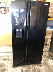 Black Americian style fridge freezer